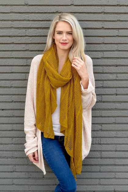Lightweight Net Wrap Scarf - orangeshine.com