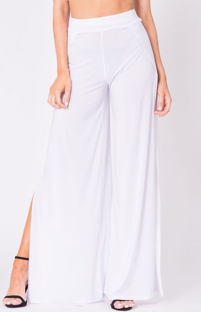 DOUBLE SLIT FLARED PANTS - orangeshine.com