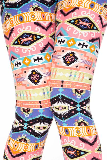 TRIBAL PRINT LEGGINGS - orangeshine.com