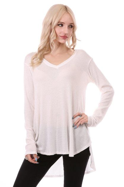 V NECK THERMAL TOP - orangeshine.com