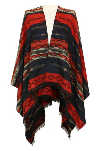 Aztec Tribal Pattern Shawl Wrap - orangeshine.com