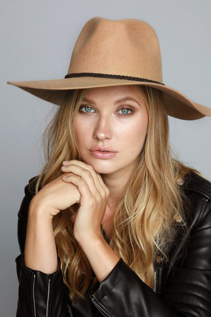 WOOL FELT WIDE BRIM PANAMA HAT - orangeshine.com