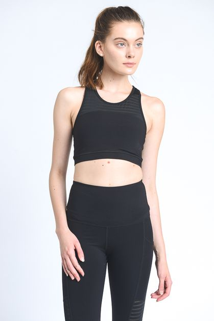 Burnout mesh sports bra - orangeshine.com