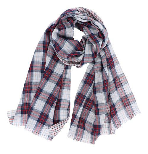 Plaid Pattern Oblong Scarf - orangeshine.com
