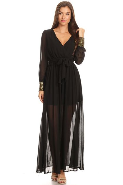 Sheer maxi dress - orangeshine.com