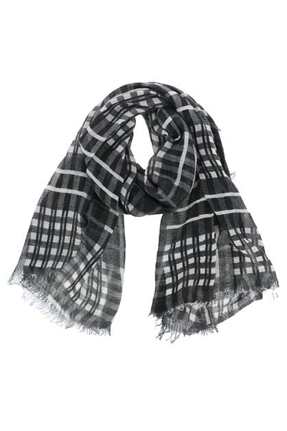 Plaid Striped Oblong Scarf - orangeshine.com