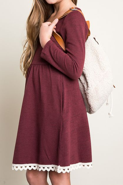 Detailed Sweater Dress - orangeshine.com