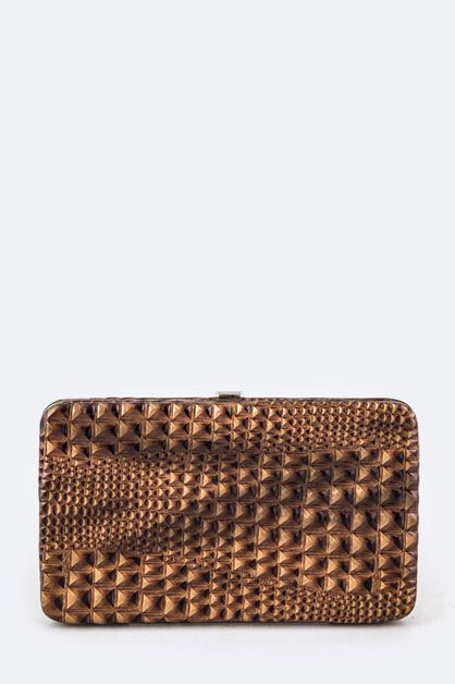 Croc Embossed Photo Pouch Wallet - orangeshine.com