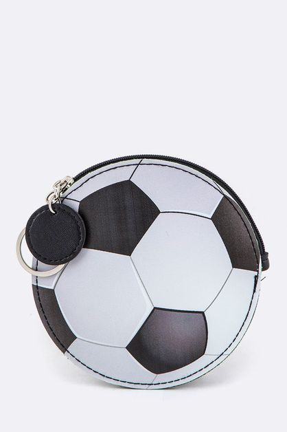 Soccer Ball Coin Purse Key Charm - orangeshine.com