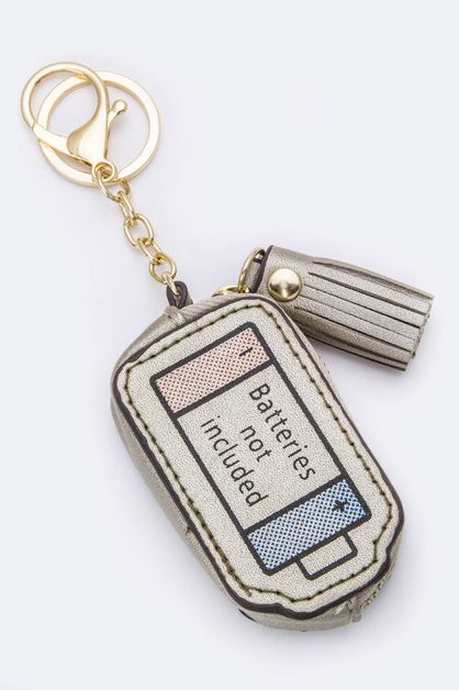 Battery Design Coin Purse Key Charm - orangeshine.com