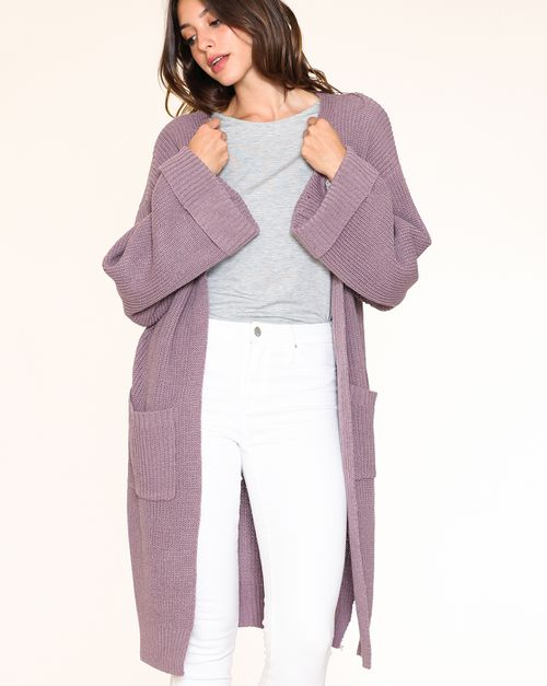 KNIT CROCHET OVERSIZE OPEN CARDIGAN - orangeshine.com