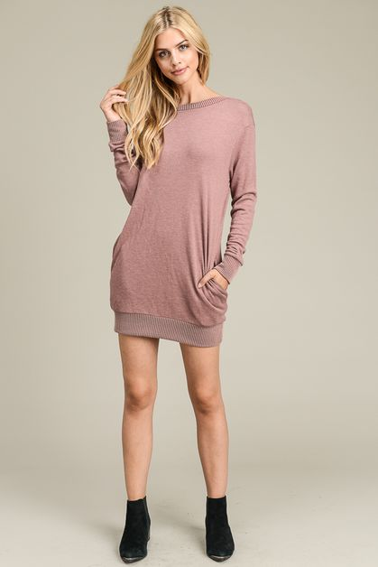 Long Sleeve Cut Out Dress - orangeshine.com