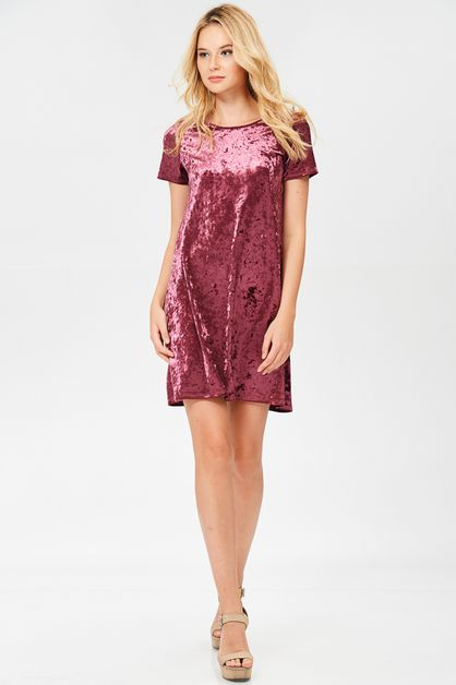 Crushed Velvet Dress - orangeshine.com