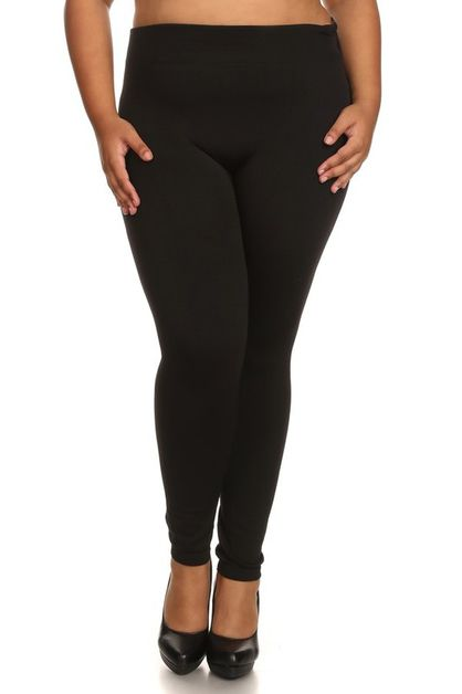 PLUS SIZE FLEECE LINED LEGGINGS - orangeshine.com