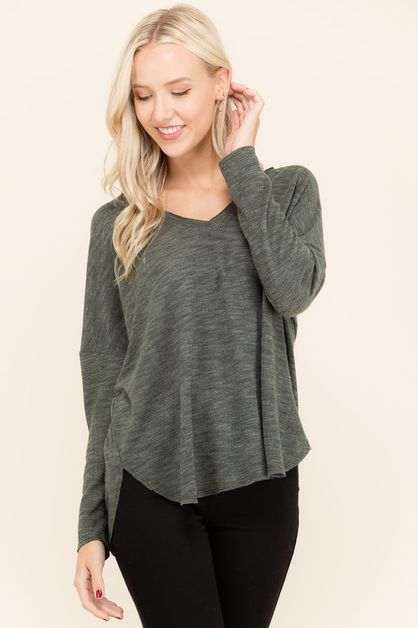 SIMPLE V SWEATER  - orangeshine.com