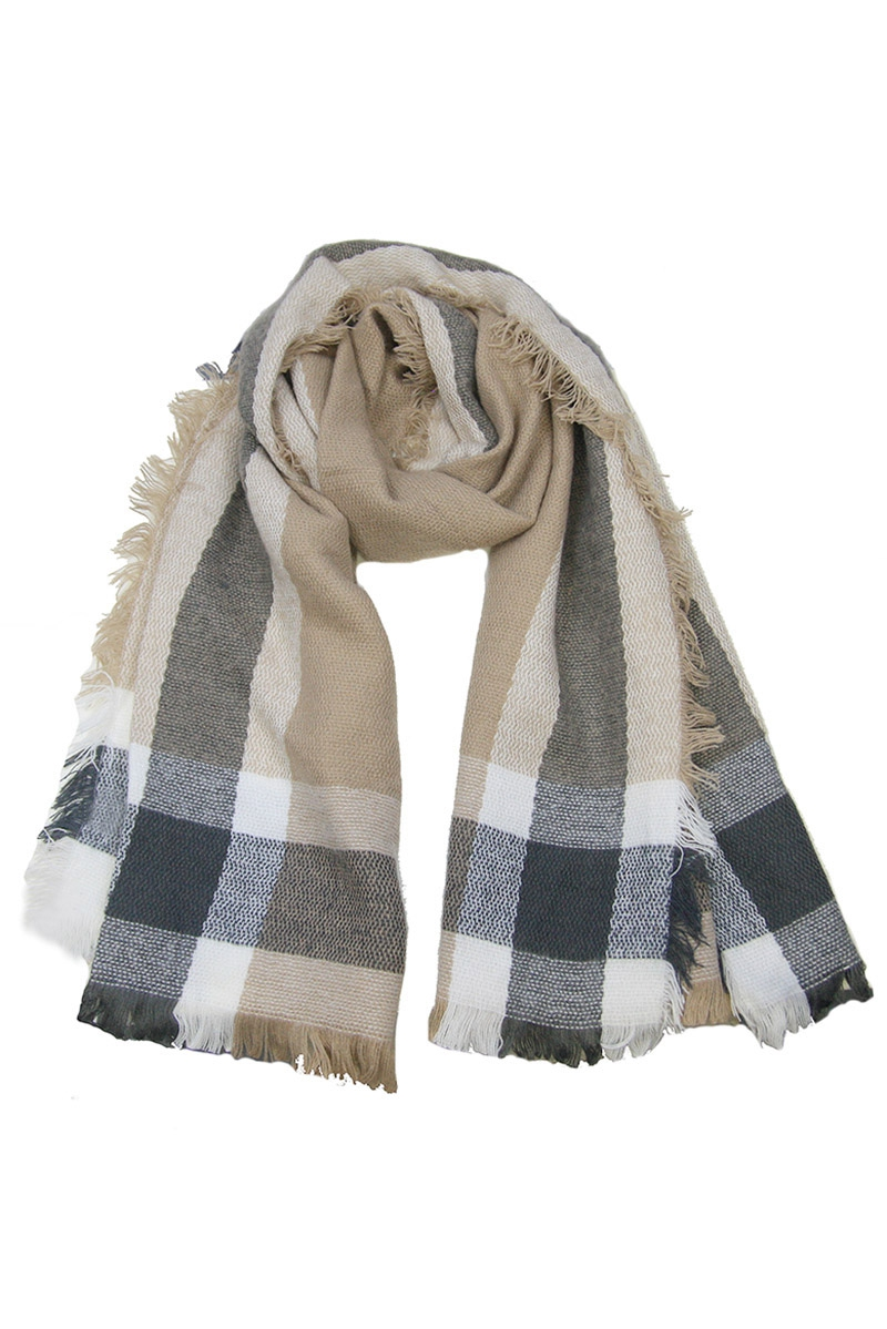 Plaid Woven Scarves - orangeshine.com