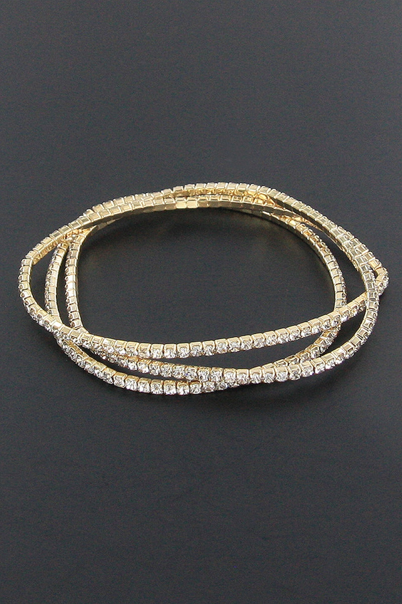 3-pc Rhinestone Bracelet Set - orangeshine.com