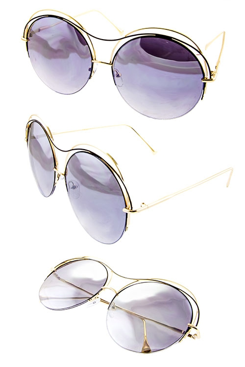 Round Top Wire Fashion Sunglasses - orangeshine.com