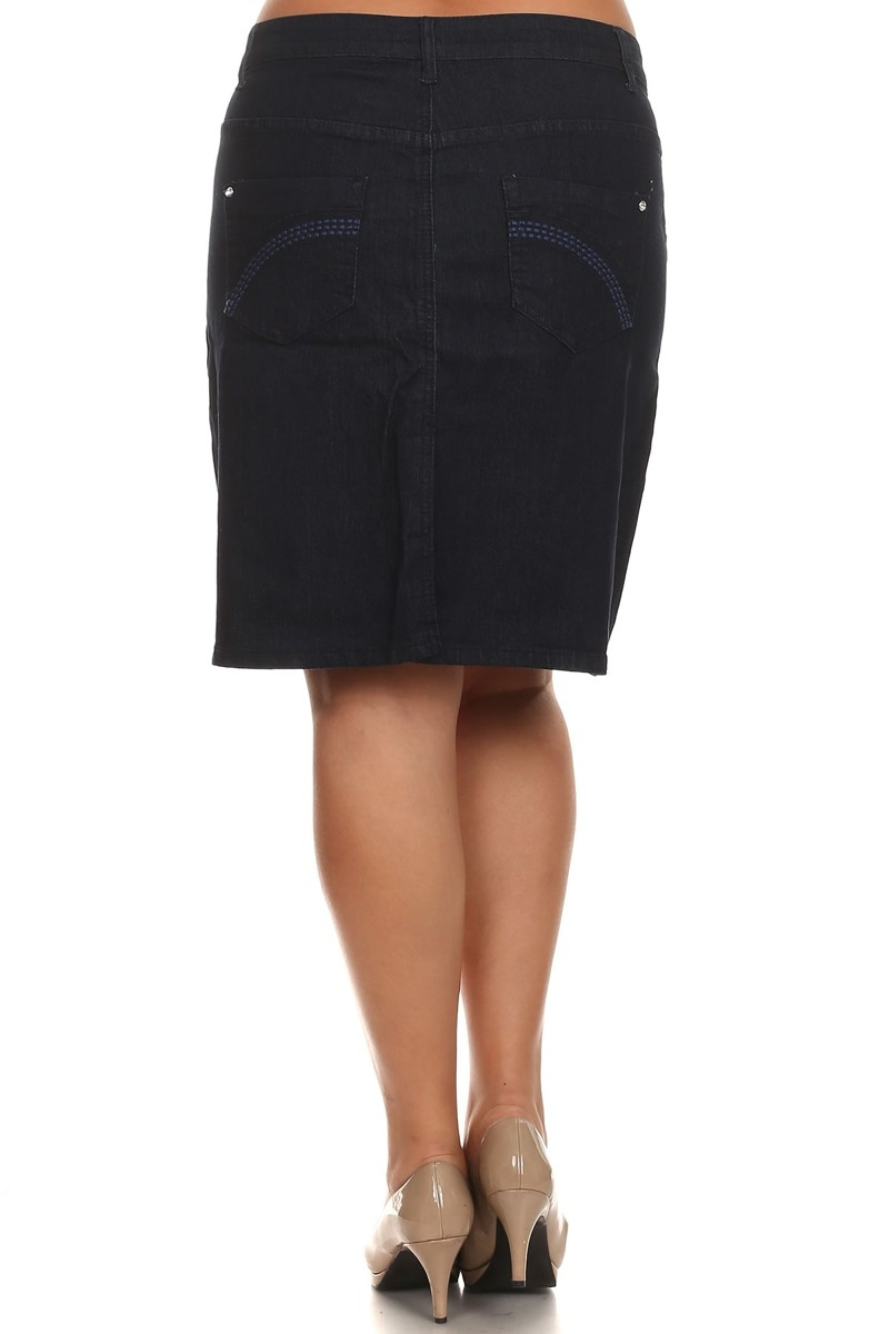 PLUS SIZE DENIM SKIRT SIZE 16 TO 24 - orangeshine.com