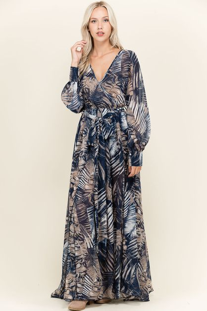 Chiffon Maxi Dress - orangeshine.com