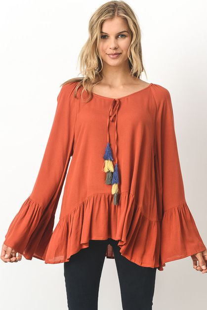 boho top - orangeshine.com