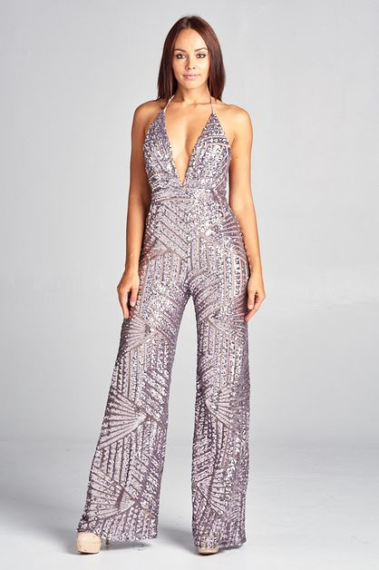 Sequins Jumpsuit - orangeshine.com
