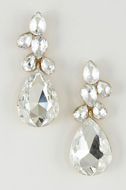 TEARDROP GEM EARRINGS - orangeshine.com