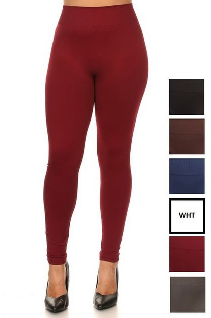 Mid Waist Full Lenght Leggings - orangeshine.com