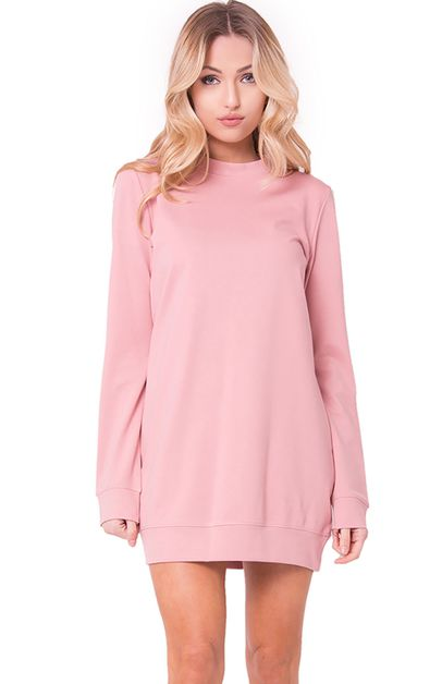 LONG SLEEVE PULLOVER DRESS - orangeshine.com