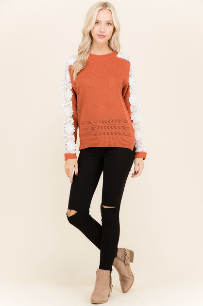 Knit Pullover Sweater - orangeshine.com