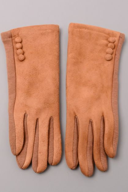 Simple Velvet Trim Gloves - orangeshine.com