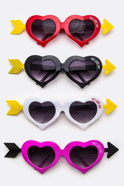 Iconic Arrowed Heart Sunglasses - orangeshine.com