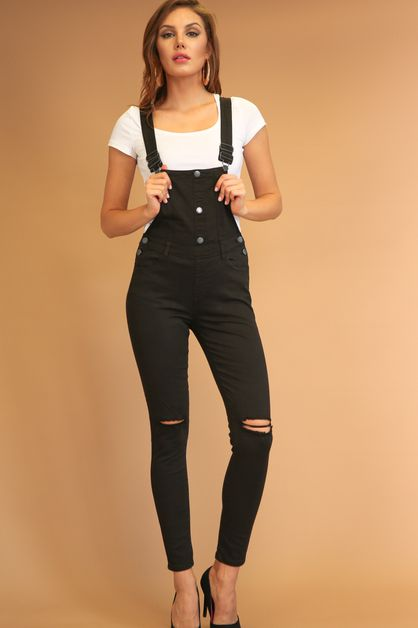 BUTTON UP SLIT OVERALLS - orangeshine.com