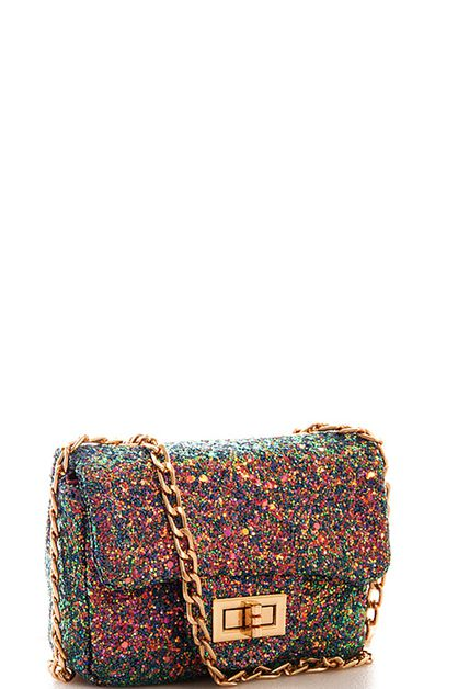 Mini Sparkling Crossbody Bag  - orangeshine.com