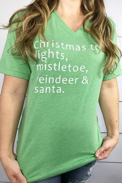Christmas-List-V-Neck - orangeshine.com