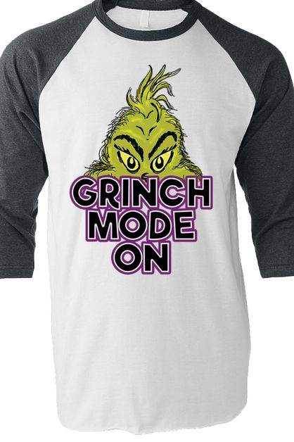 Grinch Mode On Full Color Baseball T - orangeshine.com