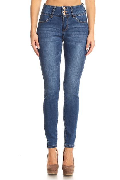 HIGH WAIST PUSH UP JEANS - orangeshine.com