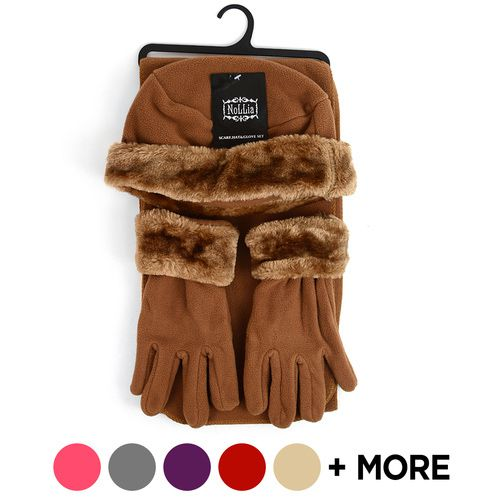 6pc Pack Womens Fleece Winter Set - orangeshine.com
