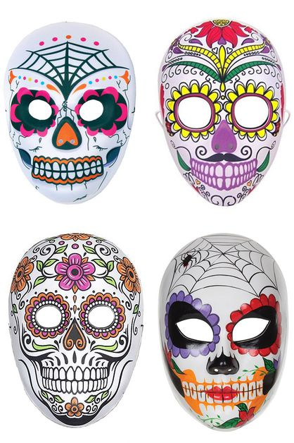 Halloween Sugar Skull Mask - orangeshine.com