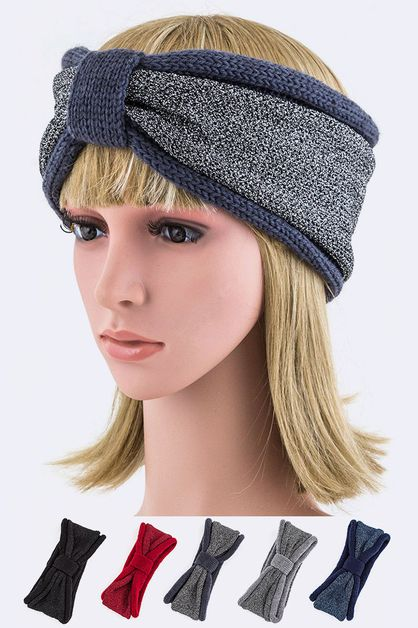 Lurex 2 Tone Winter Headband Set - orangeshine.com