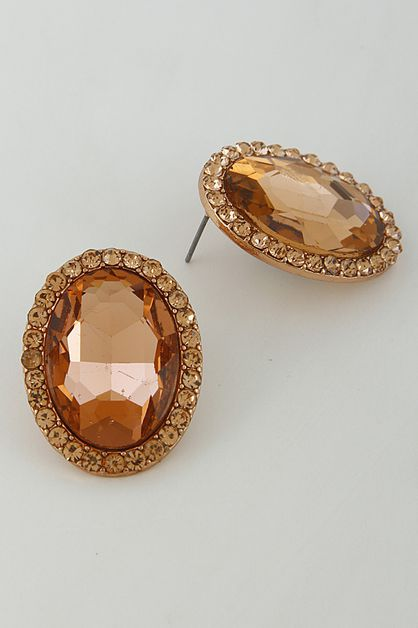 OVAL FANCY EARRINGS - orangeshine.com