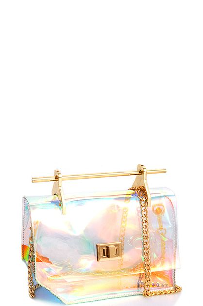 Hologram Tint Transparent Crossbody - orangeshine.com