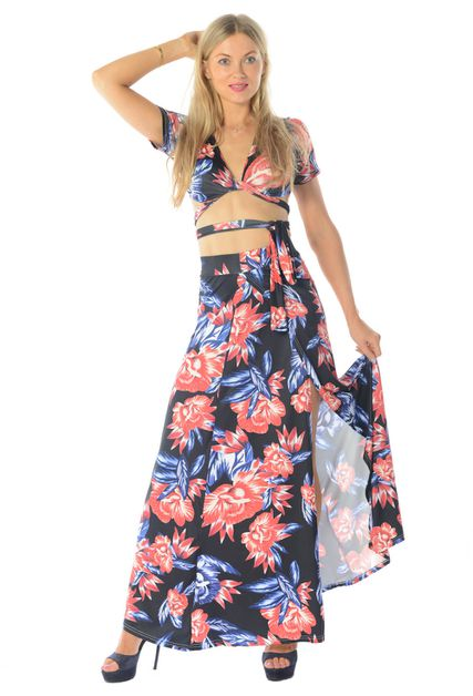 CROP TOP MAXI SKIRT - orangeshine.com