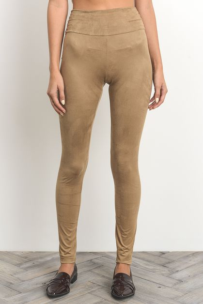 Suede Leggings - orangeshine.com