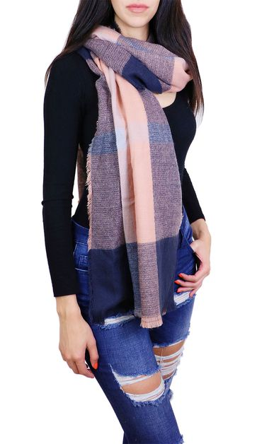 Plaid Fashion Oblong Scarf - orangeshine.com