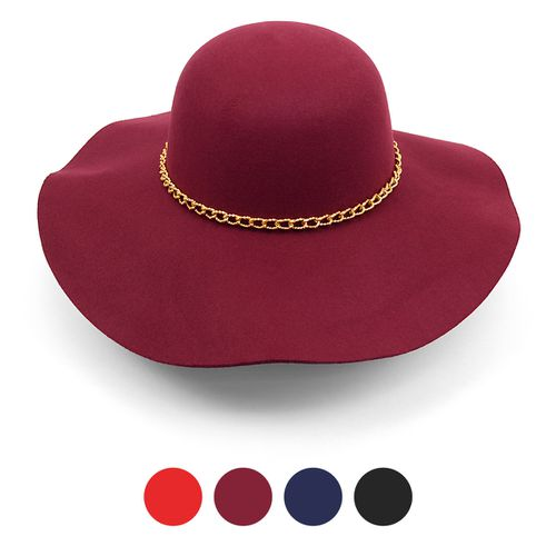 Women Felt Wide  Brim Floppy Hat - orangeshine.com