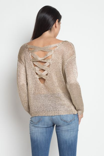 Viscose Sweater Top CrissCross Back  - orangeshine.com