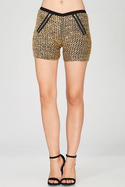 Wave Sequined Shorts - orangeshine.com