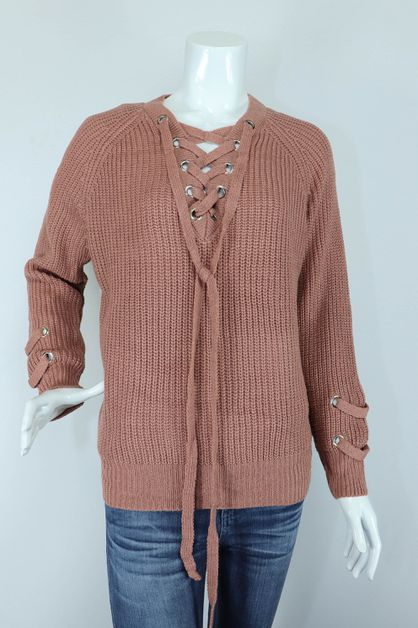 knitted solid sweater - orangeshine.com