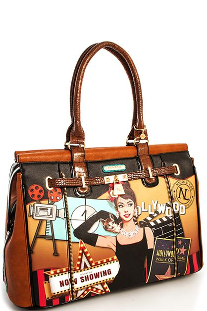 Nicole Lee Hollywood  Large  Satchel - orangeshine.com